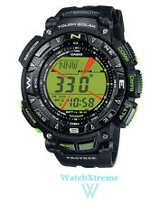 POPULAR! CASIO Protrek PRG-240-1B Men's Triple Sensor Tough Solar Sports Watch