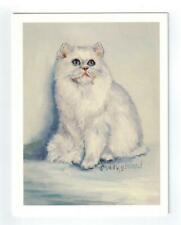 Fluffy White Cat Sitting Notecards Set - 12 Note Cards By Ruth Maystead Cats-23
