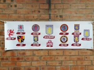 ASTON VILLA football heritage logos  large pvc heavy duty banner
