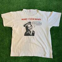 Vintage 80s Mary Tyler Marx T Shirt Comrade Karl Marx Marxism Punk Core Size L