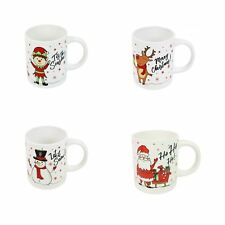 Christmas Mugs Set of 4 Festive Party Xmas Mugs Home Kitchen Tea Coffee Cups