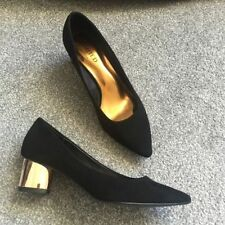 Marks and Spencer Women's Suede Court Shoes Block Heels