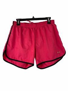 Reebok Women's Active Wear Shorts Large Pink w Black Trim Elastic/Drawstring
