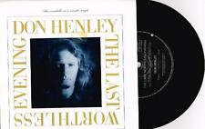 """DON HENLEY - THE LAST WORTHLESS EVENING - 7"""" 45 VINYL RECORD w PICT SLV - 1989"""