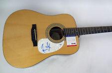 James Taylor Fire and Rain Signed Autograph Epiphone Acoustic Guitar PSA/DNA COA