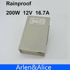 200W 12V 16.7A Rainproof outdoor Single Output Switching power supply smps