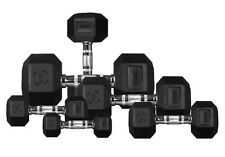 Hex Dumbbells Full Set 10kg - 30kg Rubber Encased Ergo Weights Sets Dumbbell Set