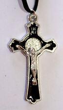 55mm Detailed black CRUCIFIX JESUS CHRIST Christian God Cross Necklace
