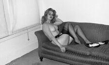 CDN3-6317 VINTAGE 1960'S B&W 35MM NEG ELMER BATTERS LEGS NYLONS TOES NUDE
