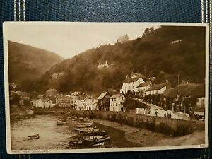 MARS HILL, LYNMOUTH 1936 POSTCARD.