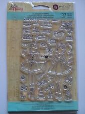 PRIMA MARKETING JULIE NUTTING CLEAR PLANNER STAMPS 'HOLIDAY BLISS' *LOOK* BNIP