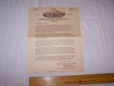 Vintage Chicago Flexible Shaft Company Letter Sunbeam Stewart Rain King