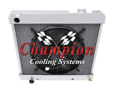 "3 Row Performance Champion Radiator W/ 16"" Fan for 1961 1962 Oldsmobile 88"