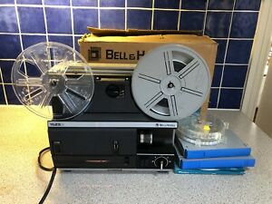 BELL & HOWELL 1623 X LZ 8mm Super 8mm FILM PROJECTOR Boxed And Working Bundle
