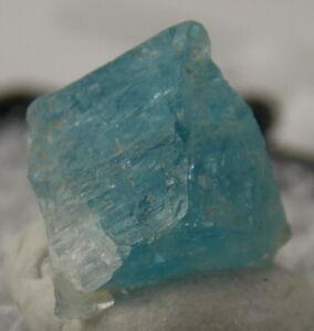 TEAL BLUE EUCLASE CRYSTAL - 0.8 cm - SANTINO MINE, BRAZIL 24152