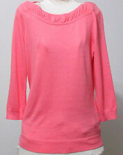 """Worthington Boat Neck 3/4"""" Length Sleeve Light Weight Sweater Top~Small~Pink~NWT"""