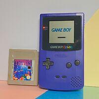 Nintendo Game Boy Colour Grape / purple Good Working Order & Tetris Game