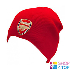 ARSENAL FC KNITTED HAT BEANIE RED OFFICIAL FOOTBALL CLUB SOCCER TEAM FAN NEW