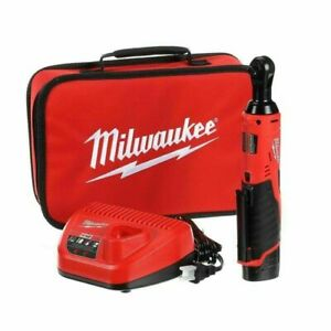 """Milwaukee 2457-21 M12 3/8"""" Ratchet Cordless Tool Kit W/ 1.5 Battery+Charger NEW"""