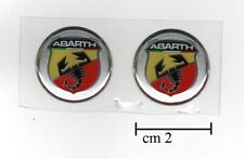 2 STICKERS LOGOS BADGES 3D ABARTH FIAT GRANDE PUNTO UNO GOOD BOY TIPO 20mm