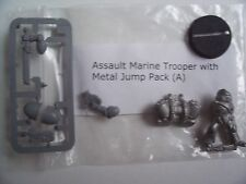 WARHAMMER 40K NEW ASSAULT MARINE TROOPER A . METAL MODEL with METAL JUMP PACK,
