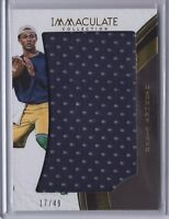 2017 Immaculate Collection Collegiate DeShone Kizer Browns Immac. Jumbo JSY /49