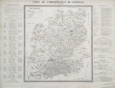 CARTE DE L'ARRONDISSEMENT DE COMPIEGNE, Dressée par CH. PERINT oise J. ESCUYER