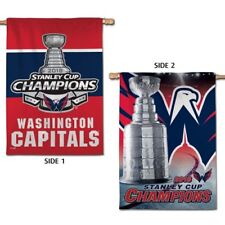 """WASHINGTON CAPITALS 2018 STANLEY CUP CHAMPIONS 28""""X40"""" DOUBLE SIDED HOUSE FLAG"""
