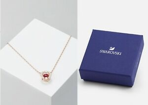 New in Gift Box SWAROVSKI 5279421 Rose Gold Crystal Sparkling Dance Necklace