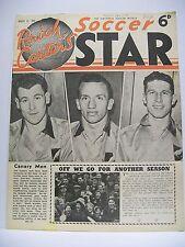Raich Carter's Soccer Star Magazine. August 21, 1954. The Canary Men.