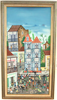 ORIGINAL OIL PAINTING BY HAITIAN MASTER JEAN BAPTISTE JEAN FRAMED  ART 18 X 36