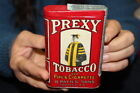 Rare Antique Vintage Prexy Pipe & Cigarette Smoking Tobacco Tin Metal Can Sign