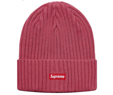 Supreme Overdyed Ribbed Beanie Red Washed Magenta SS18
