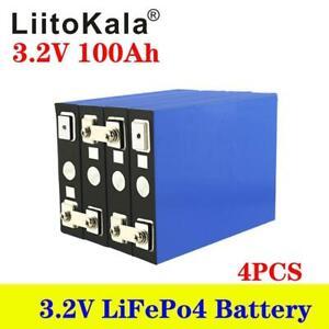 4pcs 3.2v 100ah Lifepo4 Iron Phosphate Solar Cell Electric Car Solar Battery