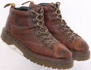 Dr. Martens Doc 8287 Brown Leather Lace Up Ankle Boots Shoes UK 9 Men's US 10
