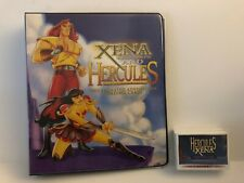 XENA & HERCULES ANIMATED TRADING CARD BINDER, MINI MASTER, SELL SHEET, P3 & AUTO
