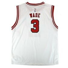 2c6372bc709 Dwyane Wade NBA Chicago Bulls Official Home White Player Replica Jersey  Youth L