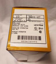 New Lot of 10 Leviton Decora 5601-2T 15A Single Pole Rocker Wall Light Switch