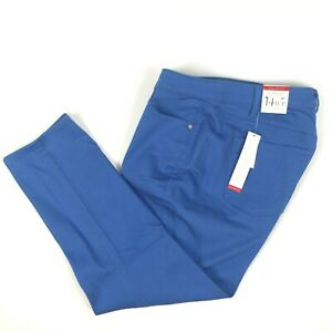Talbots 14WP Slim Ankle Flawless Five Pocket Blue Stretch Jeans Pants NWT