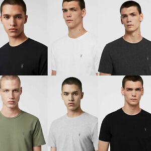 All Saints Mens Crew Neck Cotton Designer Tonic Short Sleeve T Shirt Tee