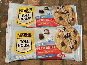 2-9oz Bags Nestle Toll House Baking Truffles Peppermint Filled Chocolate Morsels