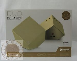 iWave DUO Stereo Pairing Bluetooth Speakers SP58087-CP, New