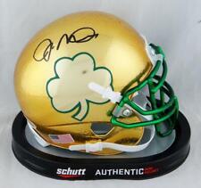Joe Montana Signed Notre Dame Gold Textured Shamrock Mini Helmet - Beckett Auth