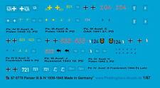 Peddinghaus 1/87 0770 chars III et chars IV Décalques 1939-45