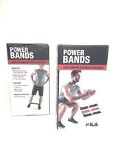 Fila Power Resistance Weight Bands Light Medium Heavy Mixed Fitness Set Nib Abs