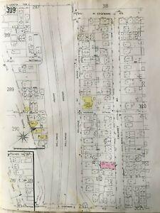 ORIGINAL 1953 ECHO PARK LA CA LAVETA TE - E. EDGEWARE ROAD SANBORN ATLAS MAP