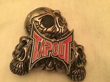 RED  - TAPOUT MMA BELT BUCKLE - skulls