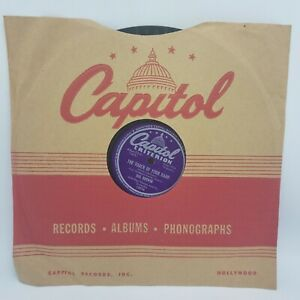 King Cole Trio / Hal Derwin w Paul Weston - Capitol Criterion 10074 78 RPM V+