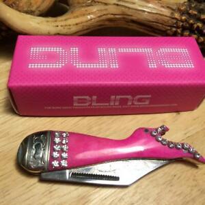 "Rough Rider Pink Bling Lady Leg 3 1/8"" Pocket Knife RR1440"