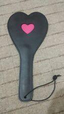 Leather paddle round shape  Heart cut 100% Leather paddle